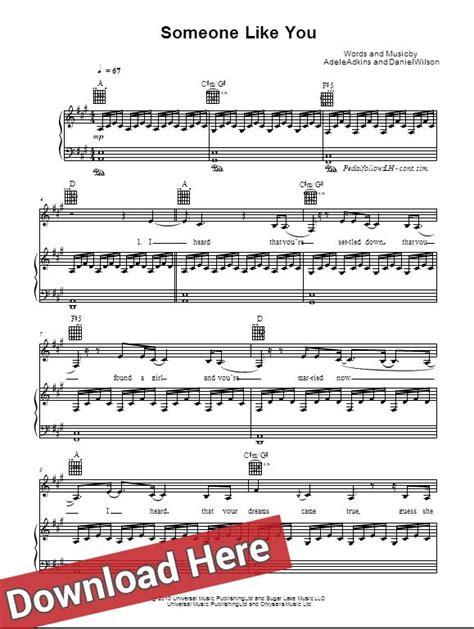 adele someone like you chords original adele someone like you sheet music piano notes