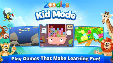 zoodles apk kid mode free learning android apps on play