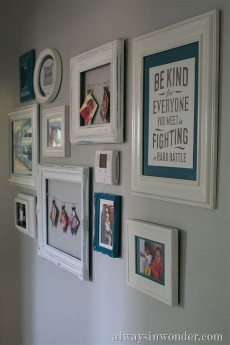 photo wall ideas without frames 1000 ideas about hide thermostat on pinterest