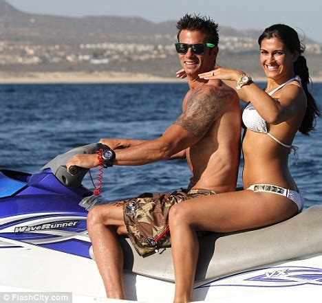lorenzo lamas and shawna craig go for a spin on his jet