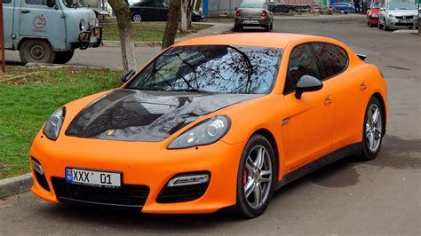 porsche panamera matte racing orange matte wrapped porsche panamera gts loud