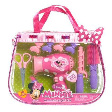 Minnie Mouse Hair Dryer disney minnie s bowtastic hairstylist set toys