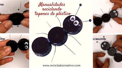 como hacer una pesera de carton muy bonita c 243 mo hacer una hormiga con tapones de botellas diy