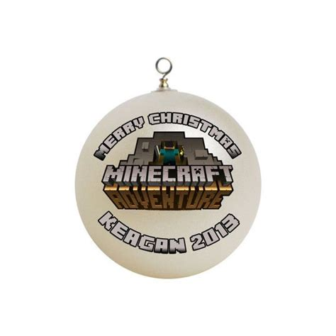personalized minecraft christmas ornament custom gift 1