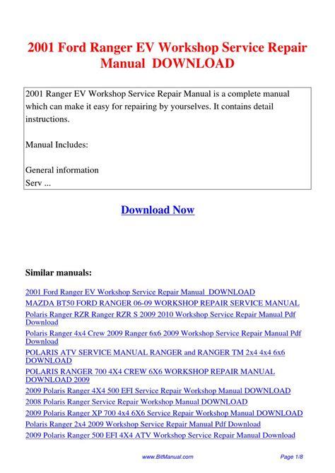 service repair manual free download 2009 mazda b series instrument cluster 2001 ford ranger ev workshop service repair manual by lisa fu issuu