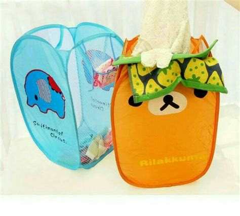 Keranjang Baju Laundry jual keranjang laundry basket baju storage penyimpanan portable karakter nathan shop grosir
