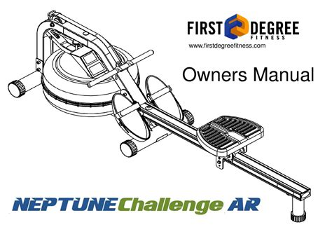 rowing machine diagram user manual neptune challenge rower ar by fitnessdigital