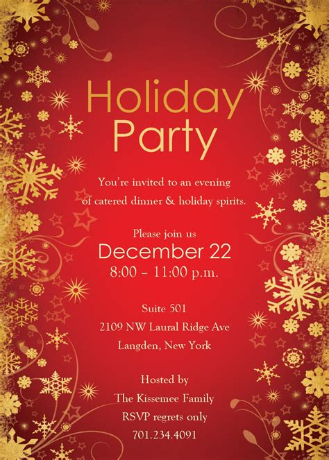 templates for christmas party invitations free holiday party invitation templates best template