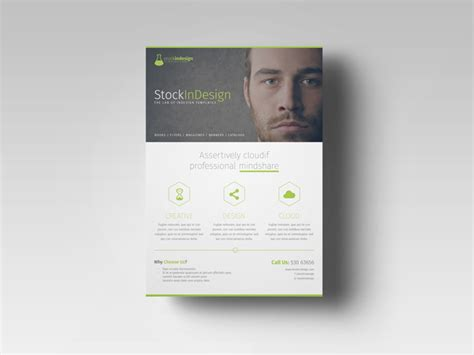 free indesign brochure templates free indesign template of the month corporate flyer