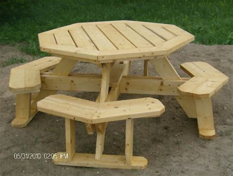 octagon picnic table plans easy   ebay