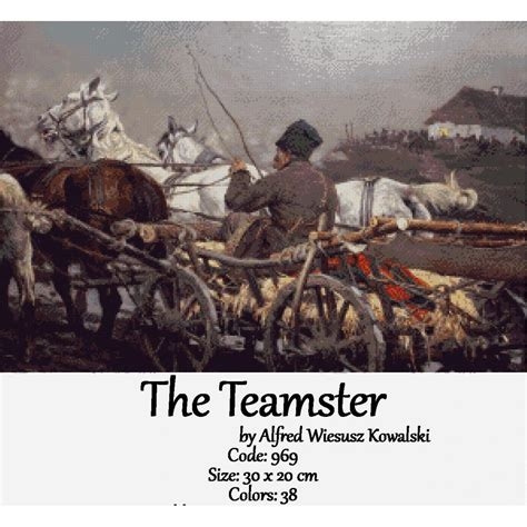 The Teamster crossstitch set the teamster by johan laurentz