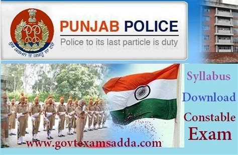 punjab police constable syllabus  exam pattern