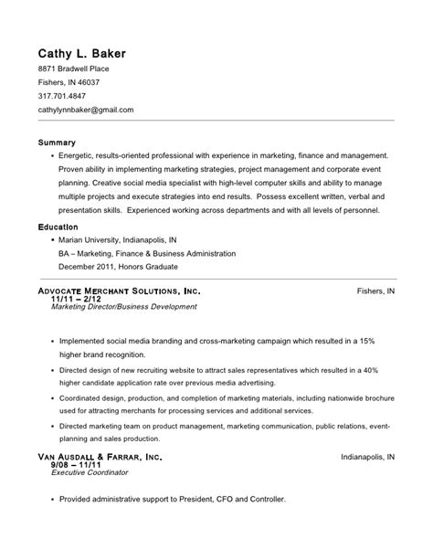 Bakery Assistant Sle Resume by Cathy L Baker Resume