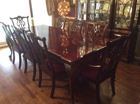 mahogany dining room set 13 pc dining room set thomasville all mahogany table 8