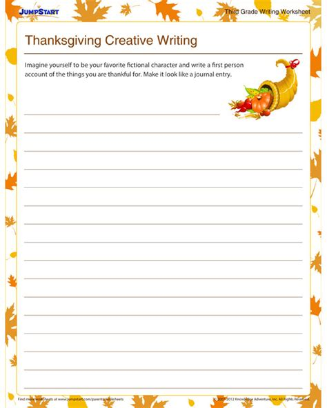 writing template for thanksgiving cards kindergarten creative writing lesson plan kindergarten