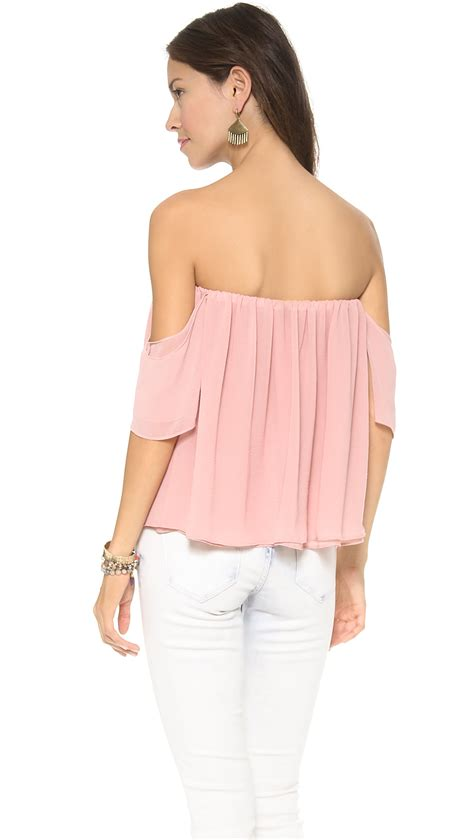 Shoulder Tank Blouse Pink t bags the shoulder blouse navy in pink lyst