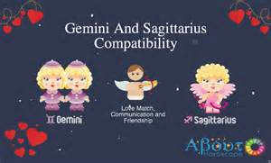 gemini and sagittarius compatibility love friendship