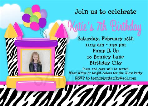 zebra house free bounce house birthday party invitations printable party invitations ideas