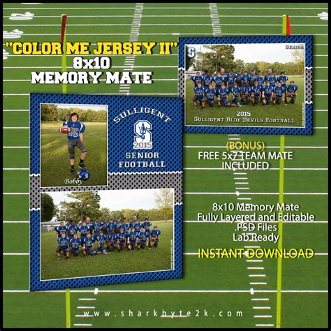 12 Football Photoshop Borders And Frames Images Picture Free Football Memory Mate Templates
