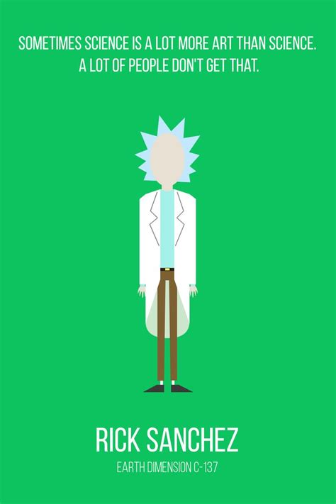 Rick And Morty Quote From Detoxing by My Minimalist Rick And Morty Character Collection Album