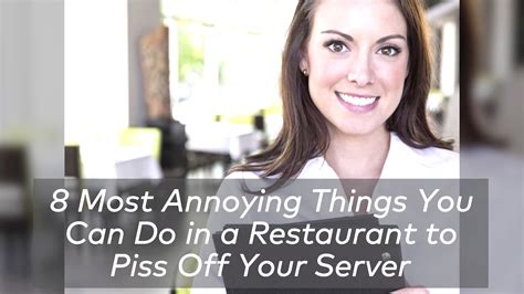 8 Most Annoying In The by Bad Diner Habits Chef Restaurant The Feast