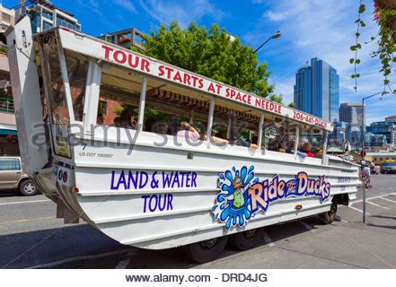 duck boat tours usa ride the ducks sightseeing tour seattle usa stock photo