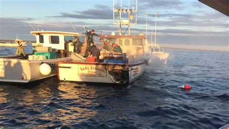 fishing boat accident pei p e i lobster boat catches fire offshore no one injured