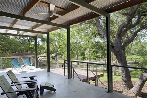 galvanized metal chair porch modern with ceiling