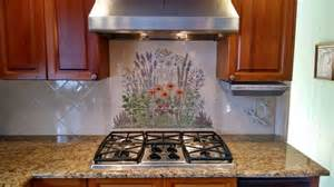 decorative backsplashes kitchens quot flowering herb garden quot decorative kitchen backsplash tile mural kitchen other metro by