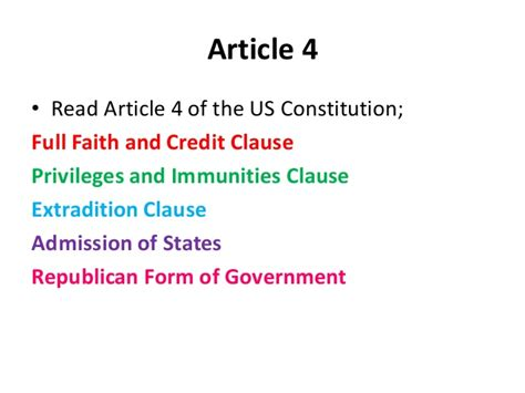 article 4 section 2 clause 3 federal state relationship