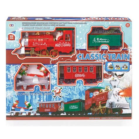 premier 22 piece battery operated christmas train set with