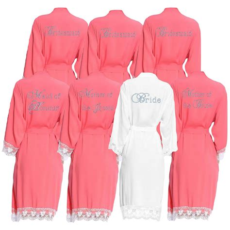 Wedding Dressing Gowns by Lace Cuff Cotton Dressing Gown Wedding Bridal Robe