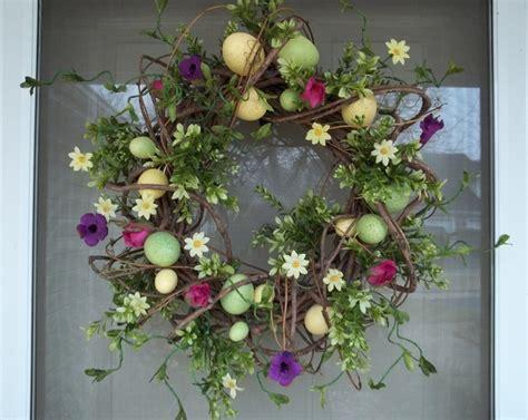 Easter Door Wreaths by Easter Wreath Egg Wreath Easter