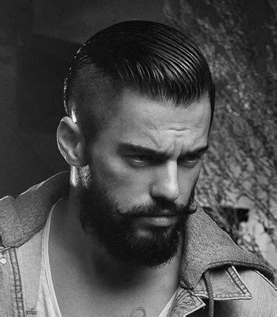 shaved sides slucked back 50 shaved sides hairstyles for men throwback haircuts