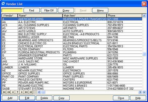 list of software cogz cmms software vendor list