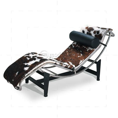 pony chaise le corbusier style lc4 chaise longue pony leather