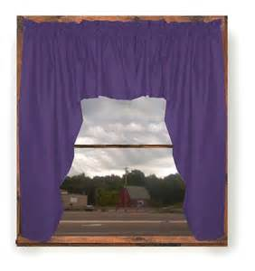 Purple Valance Curtains Solid Purple Colored Swag Window Valance Optional Center Available