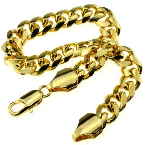 b186 18k gold plated mens bracelet in 22cm length gift