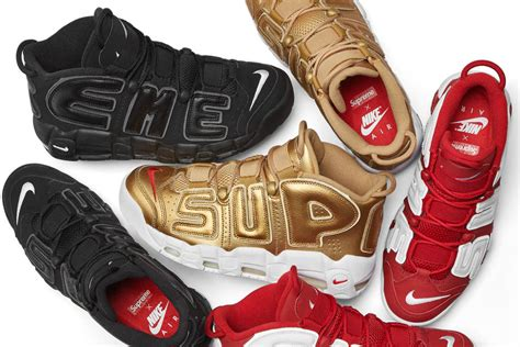 Nike Uptempo Supreme nike is releasing the supreme x air more uptempo on april 29 footwear news
