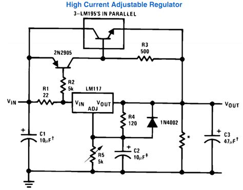 high c supply variable power supply circuit using ic lm317