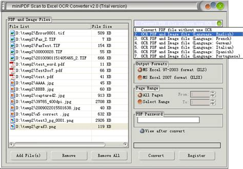 Ocr To Spreadsheet by Mini Scan To Excel Ocr Converter Does Convert Scanned Pdf