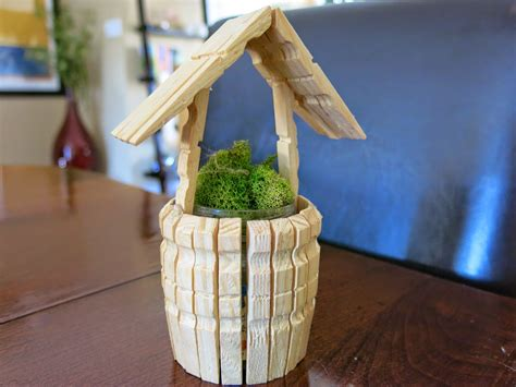 wooden clothespin crafts for caker cooking clothespin wishing well