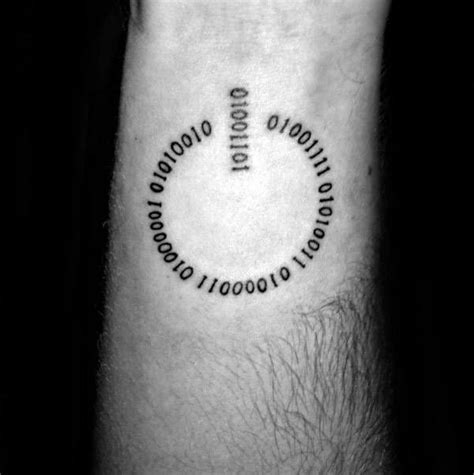power button tattoo 30 binary designs for coded ink ideas