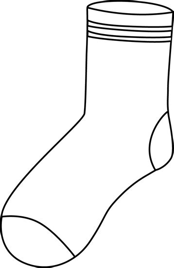 sock black and white sock clip free clipart panda free clipart images