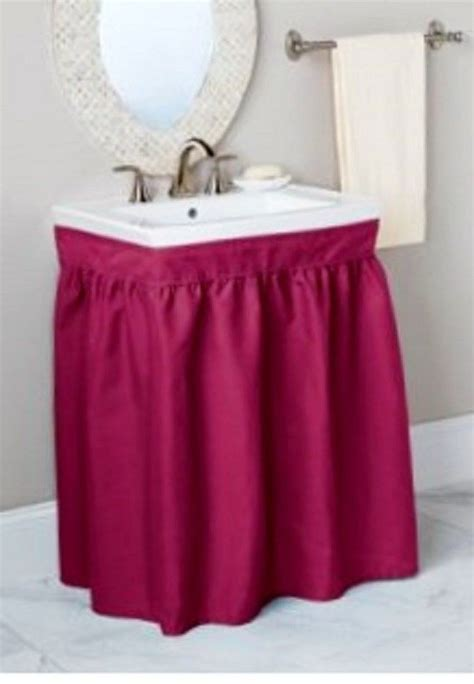 Sink Skirt Mayfield Sink Skirts Fabric Assorted Colors Ebay