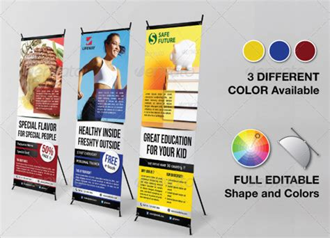 Inspiring Signage Templates With Print Ready Files Standing Banner Design Template
