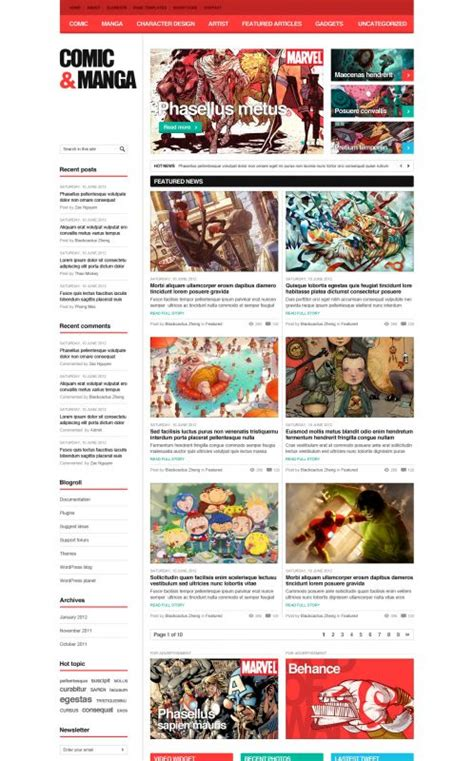 comic effects and serious themes in pride and prejudice comic wordpress theme comicmag wordpress themes
