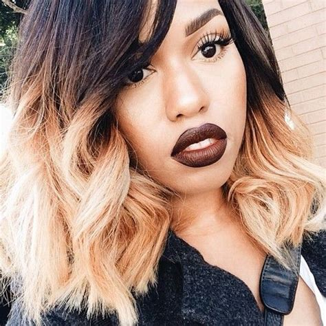 black short hair with blonde ombre 116 best images about black girls with blonde hair on
