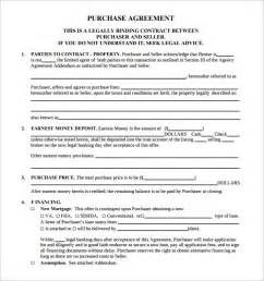 free real estate contract templates free real estate purchase agreement template template design