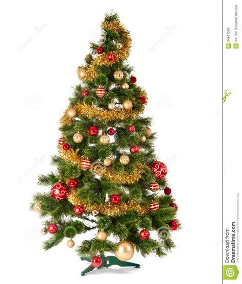 decorated christmas tree  white background royalty  stock photo image